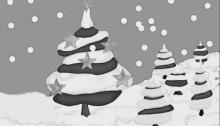 tannenbaum schwarz-weiß